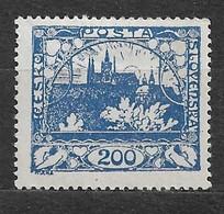 Czechoslovakia 1918 MNH ** Mi 9 D Gez. Sc 9 Hradcany At Prague.Tschechoslowakei. C1 - Czechoslovakia
