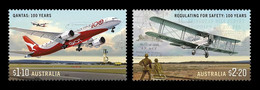 Australia 2020 Mih. 5196/97 Civil Aviation. Qantas Dreamliner And G-AUAB Aircrafts MNH ** - Mint Stamps