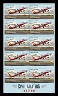 Australia 2020 Mih. 5198 Civil Aviation. Qantas Dreamliner Aircraft (self-adhesive) (booklet) MNH ** - Mint Stamps