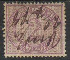 Deutsches Reich 37a O Federzug - Usati