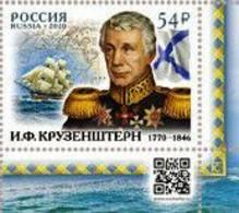 Russia Russland Rusland Russie 2020 - 250th Anniversary Of Ivan Krusenstern, Navigatorv 1 V MNH ** - 1992-.... Federation