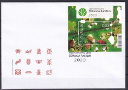 SLOVENIA 2020,United Nations International Year Of Plants Health; Insects; Beetle,INSECTS,BLOK,FDC - Slovenia