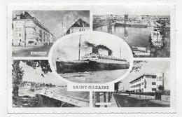 SAINT NAZAIRE - MULTIVUES AVEC PAQUEBOT LE LIBERTE - FORMAT CPA NON VOYAGEE - Saint Nazaire