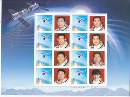 China 2013 China Eight Astronauts Special Sheet - Raumfahrt