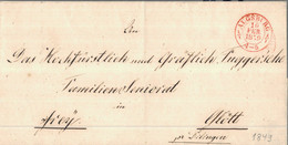 1849 AUGSBURG Bfhülle Nach Glött - [1] Prephilately