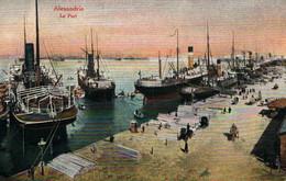 Alexandria - Alexandrie, Le Port, Bateaux à Quai - Le Caire Postal Trust - Alejandría