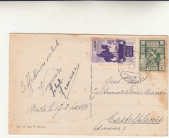 Libia Per Castelplanio ( Ancona ) Su Cartolina Postale 1940 - Libya