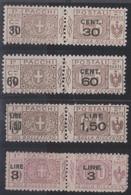 Italia 1923 Pacchi Postali UnN°20-23 4v Cpl MNH/** Vedere Scansione - Pacchi Postali