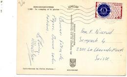 Timbre 0.40F Lions International (N°1534) Seul Sur Carte Postale Pour La Suisse - 1961-....