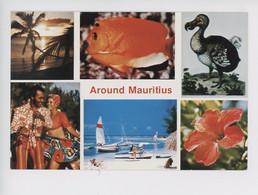 Afrique : Ile Maurice - Mauritius - Dodo, Poisson, Danse, Fleur (gaune Flore Multivues) - Mauritius