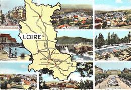 42 - La Loire - Carte Géographique - Multivues - Non Classés