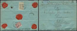 Fine Barbe - N°59 Et 61 (verso) D'une Lettre Assuré (321Frs, 15,5g) Expédié De Sottegem (1903) > Schoorisse - 1893-1800 Fijne Baard