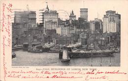 "M011305 ""TALL BUILDINGS OF LOWER NEW YORK""-PIROSCAFO -VERA FOTO-. CART SPED 1905 - Manhattan"