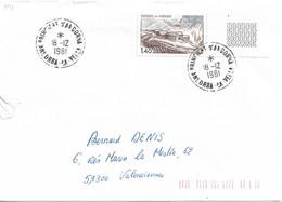 ANDORRE Timbres Sur Lettres 1981 N° 291 Cote 2€ - Cartas