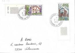 ANDORRE Timbres Sur Lettres 1980 N° 282 Et 289 Cote 4€ - Cartas