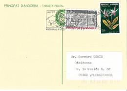 ANDORRE Timbres Sur Lettres 1980 N° 286 Cote 5€ - Cartas
