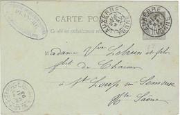 Carte Commerciale 1893 / Entier / PLANCHE / Tapisserie Ameublement / 89 Auxerre - Autres