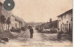 55 - Carte Postale Ancienne De  VARNEVILLE  Rue De L'Eglise - Other Municipalities