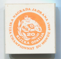 Motorbike, Motorcycle, Motorrad, Fahrrad - World Championship Rijeka Opatija Preluk,vintage Pin, Badge, Abzeichen, 40 Mm - Motorfietsen