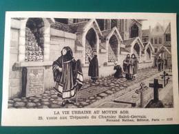 Moyen Age Visite Aux Trépassés Du Charnier Saint Gervais - Storia