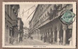 CPA ITALIE - VARESE - Corso Roma - TB PLAN Rue CENTRE VILLE TB ANIMATION Attelage + Jolie Oblitération - Varese