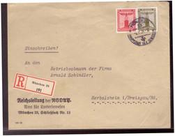 Dt.- Reich (020064) Propaganda Vorgedruckter Brief Reichsleitung Der NSDAP Amt Für Lotteriewesen, Gelaufen München - Storia Postale