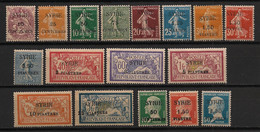 Syrie - 1924 - N°Yv. 105 à 121 - Série Complète - Neuf Luxe ** / MNH / Postfrisch - Nuevos