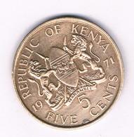 5 CENTS 1971 KENIA /8432/ - Kenya