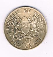 10 CENTS 1971 KENIA /8433/ - Kenya