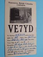 VE7YD Vancouver British Columbia  CANADA > WOZEP > USA Colorado 1947 ( See / Voir Photo ) - Radio-amateur