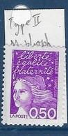 """FR Variété YT 3088c """" Luquet 0.50F Violet """" Neuf** Type II Sans Phosphore - Variétés: 1990-99 Neufs"""