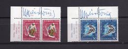SVIZZERA - GIOCHI OLIMPICI 1948 -  MNH  LUXE  -  CON FIRMA AUTOGRAFA DEL DISEGNATORE WERNER WEISKONG - Per Specialista - Unused Stamps