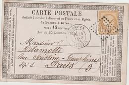Algérie, N°55 O. GC, Cad Tlemcen Algérie 1876  / CP Précurseur - 1849-1876: Klassieke Periode