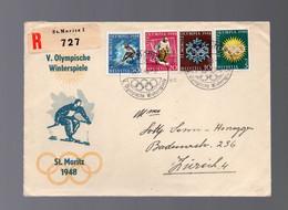 SVIZZERA - GIOCHI OLIMPICI 1948 - V. OLYMPISCHE WINTERSPIELE 30-1-1948  -   LUXE - Inverno1948: St-Moritz