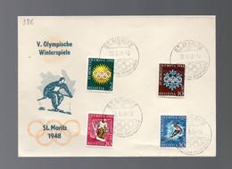 SVIZZERA - GIOCHI OLIMPICI 1948 - V. OLYMPISCHE WINTERSPIELE  ST MORITZ  30-1-1948 -   LUXE - Inverno1948: St-Moritz