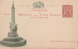 Cartolina  - Postcard / Non  Viaggiata  - Unsent  /  Commissione Privata - Cinque Giornate Di Milano - 18/03/1895 - Postwaardestukken
