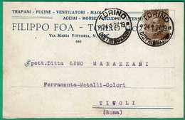 Cartolina Pubblicitaria - Filippo Foa -trapani - Fucine  - Ventilatori --formato Piccolo - Italy