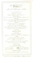 MENU-18 FEVRIER 1860-185/110 MM-J.ALLARD SUCCESSEUR DUBOS BRUXELLES - Porcelaine