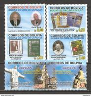 BOLIVIA - 2007 Cefilco (serie Completa 6v.) Con Catalogo Che Riproduce Francobolli 1 Con Madre TERESA Nuovo** MNH - Cristianismo