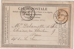 Saône Et Loire,  N°55 O. Cad T17 Issy L'Evêque 1876   / CP Précurseur - 1849-1876: Klassieke Periode