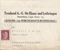 Bande Journal Affr Michel 789 Oçbl STRASSBURG (ELS) 2 Du 14.8.44 Adressée à Strassburg - Elsass-Lothringen
