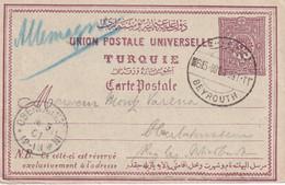 TURQUIE 1901  ENTIER POSTAL/GANZSACHE/POSTAL STATIONARY CARTE DE BEYROUTH - Covers & Documents