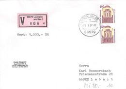 MiNr.1679 (MeF) Auf Wertbrief Bedarf - BRD