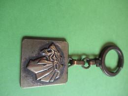 Porte-clé Ancien Métallique /Bronze/  Automobile/ PEUGEOT/ Tête De LION/ Années 50                             POC437 - Portachiavi