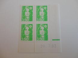 TIMBRE DE FRANCE COIN DATE N° 2821     29/07/93  MNH - 1990-1999