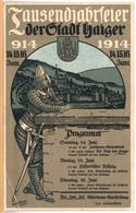 Haiger (Dillenburg) Tausendjahrfeier 1914 (Stempel!) - Dillenburg