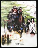 3 Of Swords - Japonese Feudal Samouraï - A Divination & Meditation Tarot Card - Tarots