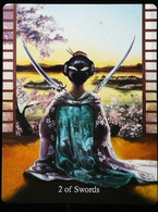 2 Of Swords - Japonese Feudal Samouraï - A Divination & Meditation Tarot Card - Tarots