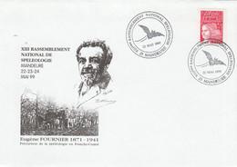 Cachet Illustré Chauve Souris Spéléologie MANDEURE Doubs 22/5/1999 - Cachets Commémoratifs