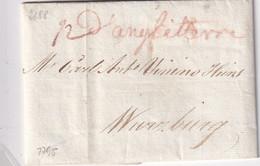 GRANDE-BRETAGNE 1795 LETTRE DE LONDON POUR WURZBURG - ...-1840 Precursori